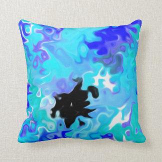 The Blue Forgot:  Modern Art Throw Cushion
