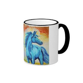 The Blue Horse Ringer Mug