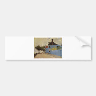 The Blue House at Zaandam by Claude Monet Bumper Sticker