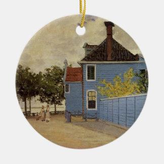 The Blue House at Zaandam by Claude Monet Christmas Ornament