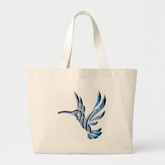 THE BLUE HUMMINGBIRD CANVAS BAG