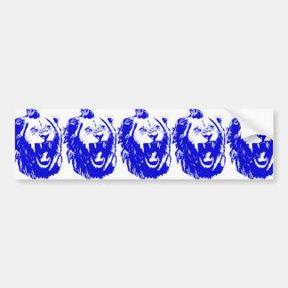 The Blue Lion King Speaks Bumper Sticker