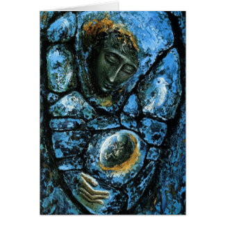 The Blue Madonna Card