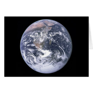 """""""The Blue Marble"""" Earth seem from Apollo 17 Greeting Card"""
