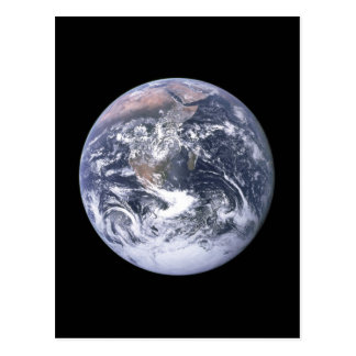 """The Blue Marble"" Earth seem from Apollo 17 Postcard"