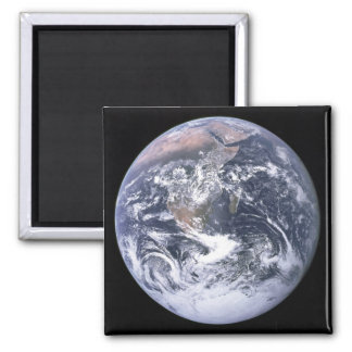 """The Blue Marble"" Earth seem from Apollo 17 Square Magnet"