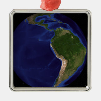 The Blue Marble Next Generation Earth 8 Silver-Colored Square Decoration