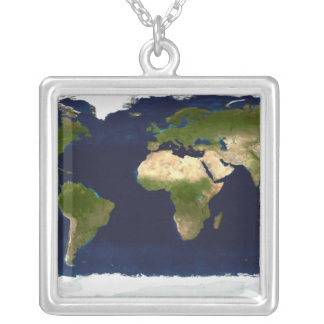 The Blue Marble Silver Plated Necklace