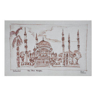 The Blue Mosque | Istanbul, Turkey Poster