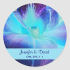 The Blue Orchid Wedding Favour Sticker