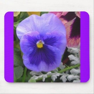The Blue Pansy Mouse Pad