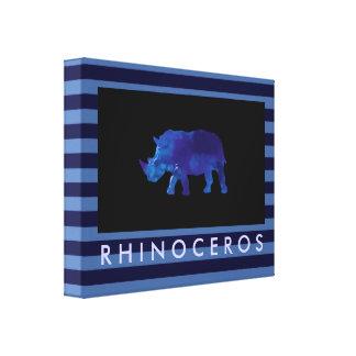 the blue rhinoceros gallery wrap canvas