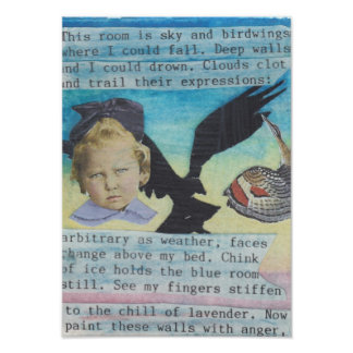 The Blue Room, Poem and Collage Poster