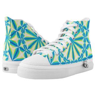 The Blue Star Mandala High Top Shoes