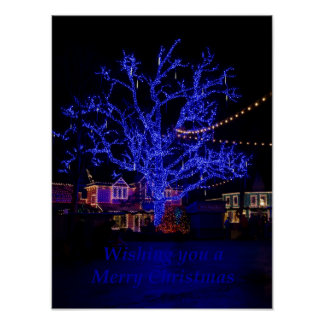 The Blue Tree Greetings Poster