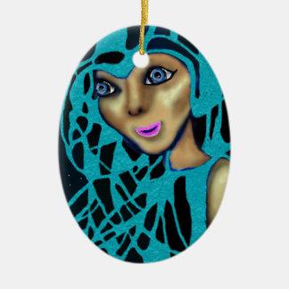 The Blue Veil. Christmas Ornament