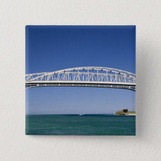 The Blue Water Bridge is a twin-span bridge 15 Cm Square Badge