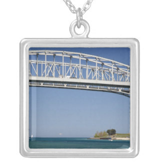 The Blue Water Bridge is a twin-span bridge 2 Silver Plated Necklace