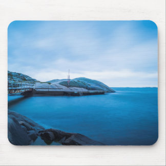 The blue water mouse pad