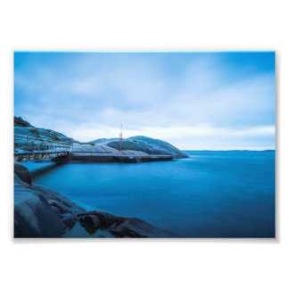 The blue water photo print