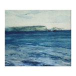 The Blue Waters of Plymouth, 19th Canvas Print