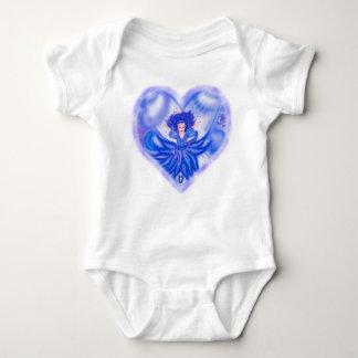 The Bluebell Fairy heart Baby Bodysuit