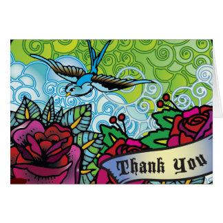 THE BLUEBIRD STAR OF DAVID Bat Mitzvah Thank you Card