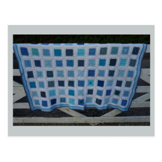 The Blues Crochet Blanket Postcard