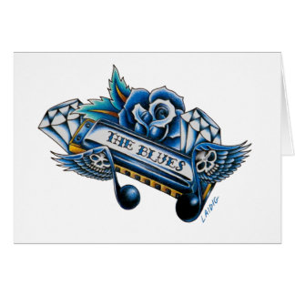 The Blues Harmonica Flash Art Card