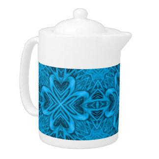 The Blues Kaleidoscope  Pattern  Teapots