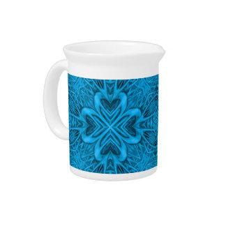The Blues Kaleidoscope  Porcelain Pitchers