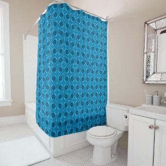 The Blues Kaleidoscope Vintage  Shower Curtain