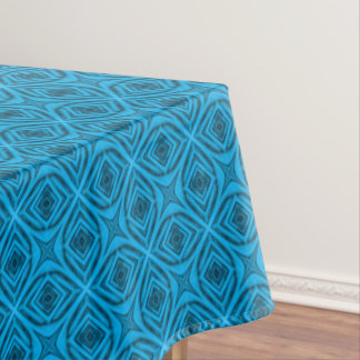 The Blues  Vintage Kaleidoscope   Tablecloth