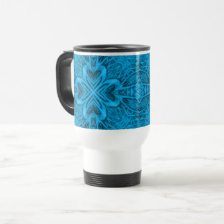 The Blues Vintage Kaleidoscope Travel Mug