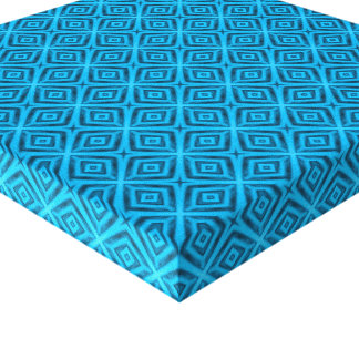 The Blues Vintage Kaleidoscope Wrapped Canvas