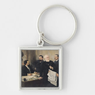 The Board of Directors Silver-Colored Square Key Ring