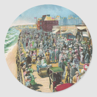The Board Walk and Brighton Casino Classic Round Sticker