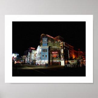 The Boardwalk at Atlantic City at Night Poster