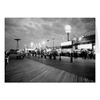 'The Boardwalk at Night' Blank Greeting Card
