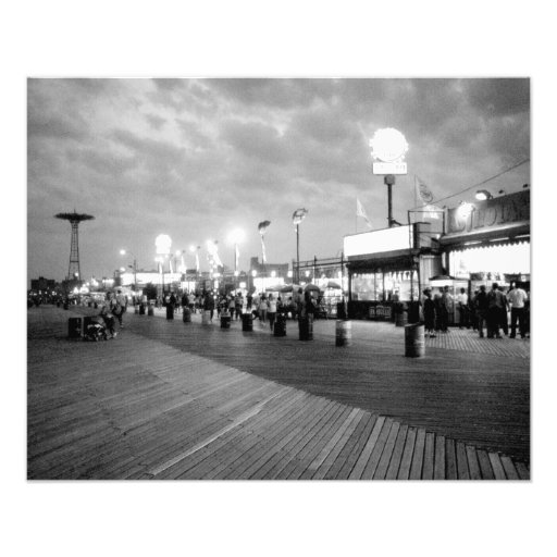 'The Boardwalk at Night' Photographic Print