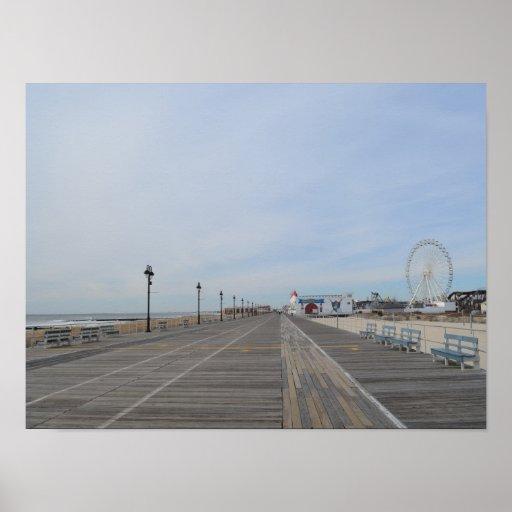 The Boardwalk at Ocean City, NJ Print