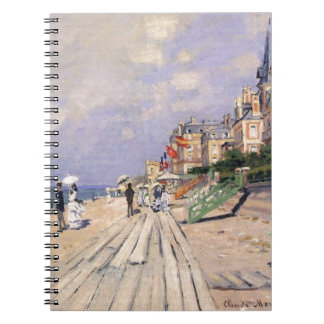 The Boardwalk at Trouville by Claude Monet Spiral Notebook