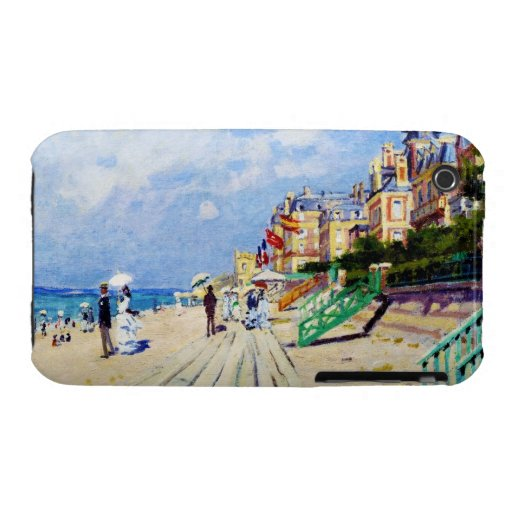 The Boardwalk at Trouville Claude Monet iPhone 3 Cover