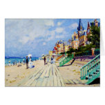 The Boardwalk at Trouville Claude Monet Note Card