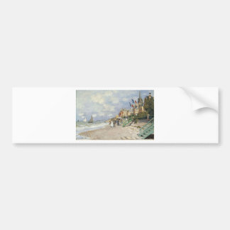 The Boardwalk on the Beach at Trouville by Claude Bumper Sticker