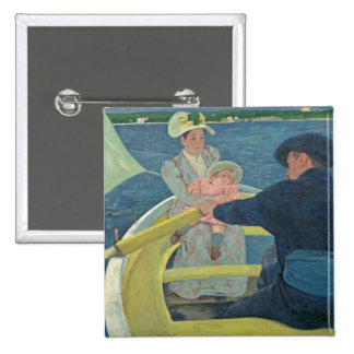 The Boating Party, 1893-94 (oil on canvas) 15 Cm Square Badge