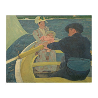 The Boating Party, 1893-94 (oil on canvas) Wood Print
