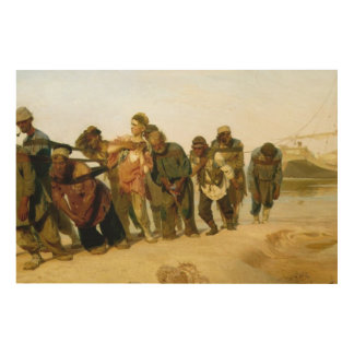 The Boatmen on the Volga, 1870-73 2 Wood Wall Decor
