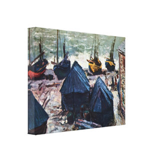The Boats by Claude Monet Canvas Print