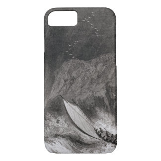 The boats off Walden Island in a snow storm, Augus iPhone 8/7 Case